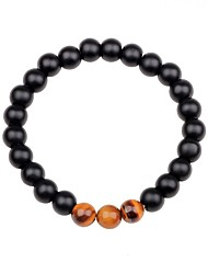 cheap -Men's Women's Strand Bracelet Multi-stone Obsidian Colorful Agate Circle Jewelry Gift Going out Costume Jewelry White Black Brown Green