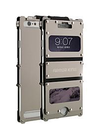 abordables -Funda Para Apple iPhone 6 iPhone 6 Plus con Ventana Funda de Cuerpo Entero Un Color Dura Metal para iPhone 6s Plus iPhone 6 Plus iPhone 6