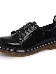 cheap -Men's Shoes Real Leather Spring Fall Comfort Oxfords For Outdoor Black