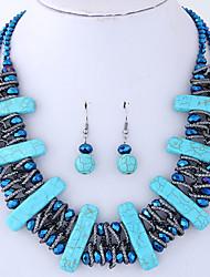 cheap -Women's Jewelry Set Casual European Party Resin Alloy Geometric 1 Necklace Earrings