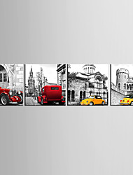 cheap -Abstract Four Panels Canvas Horizontal Print Wall Decor Home Decoration