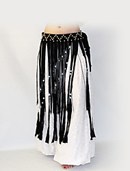 cheap -Belly Dance Hip Scarves Women's Performance Polyester Sequin Tassel Waist Accessory