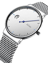 cheap -Men's Women's Fashion Watch Wrist watch Japanese Quartz Calendar / date / day Casual Watch Stainless Steel Band Casual Elegant Black