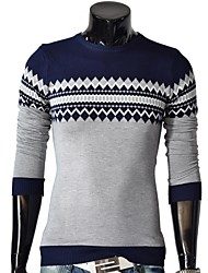 cheap -Men's Sports Pullover - Color Block, Cut Out Round Neck