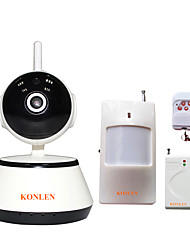 KONLEN® IP501 WIFI Intruder Burglar Security Home Alarm IP Camera System Wireless Anti Theft CCTV Video Surveillance Dual Protection Android
