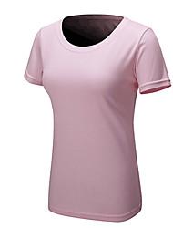 preiswerte -Damen Laufshirt Kurze Ärmel Schnelles Trocknung tragbar Atmungsaktivität T-shirt für Schlank Gelb Fuchsia Grün Blau Rosa S M L XL XXL