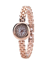 cheap -Women's Dress Watch Bracelet Watch Wrist watch Simulated Diamond Watch Chinese Quartz Imitation Diamond Alloy Metal Band Luxury Casual