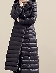 cheap -Women's Down Coat,Casual Sports & Outdoor Sports Solid-Cotton Long Sleeves