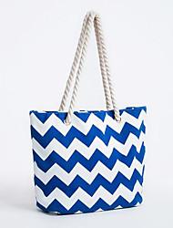 cheap -Women Bags Canvas Tote Zipper for Casual All Season Blue