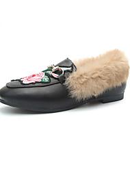 billige -Damer Sko Gummi Sommer Komfort Sandaler Flade hæle Spænde Til Sort