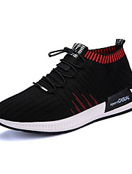 cheap -Men's Shoes Polyamide fabric Customized Materials Orlon Winter Fall Comfort Sneakers Walking Shoes Side-Draped for Casual Outdoor Black
