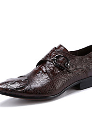 cheap -Men's Formal Shoes Leather / Cowhide Spring / Fall Business Wedding Shoes Black / Coffee / Party & Evening / Dress Shoes