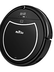 Minsu Robotic Vacuum Cleaner 2000mAh Large Capacity Li-battery Smart Automatic Self-Charge Remote Control HEPA Filter Fit for Carpet Tile Hardwood etc