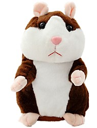 cheap -Little Talking Hamster Electronic Hamster Mouse Mouse Plush Toy Cute Walking Talking Repeats What You Say Vibrate Nods