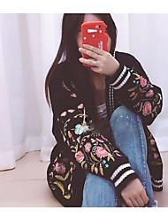 Normal Cardigan Femme Sortie Décontracté / Quotidien Imprimé Col Rond Claudine Manches Longues Coton Moyen Micro-élastique