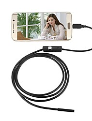 baratos -jingleszcn 7mm impermeável usb endoscopia camera android 1m hard cable inspection borescope snake cam pc windows