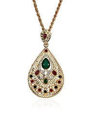 cheap -Men's Women's Drop Rhinestone Gemstone Pendant Necklace Statement Necklace  -  Classic Vintage Casual Gold Necklace For Party Gift