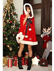 cheap -Santa Suits Mrs.Claus Cloak Female Christmas Festival / Holiday Halloween Costumes Red Sexy Lady