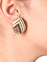 cheap -Women's Stud Earrings Clip Earrings Vintage Elegant Linen&Cotton Blend Round Jewelry For Daily Work