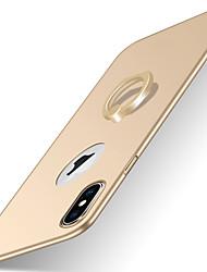 Pour iPhone X iPhone 8 iPhone 8 Plus iPhone 7 iPhone 7 Plus iPhone 6 Etuis coque Avec Support Anneau de Maintien Dépoli Coque Arrière