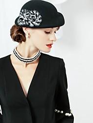 cheap -Wool Fox Fur Hats 1pc Headpiece