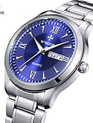 levne -WWOOR Pánské Náramkové hodinky Hodinky k šatům Módní hodinky Hodinky na běžné nošení Křemenný Kalendář Nerez Kapela Na běžné nošení Cool
