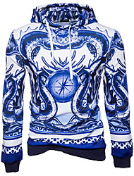 cheap -Men's Sports & Outdoor Daily Casual Street chic Hoodie Print Hooded Hoodies Micro-elastic Rayon Polyester Long Sleeves All Seasons