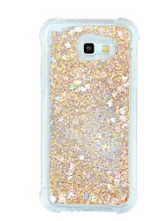 cheap -Case For Samsung Galaxy A7(2017) A5(2017) Shockproof Flowing Liquid Transparent Back Cover Transparent Glitter Shine Soft TPU for