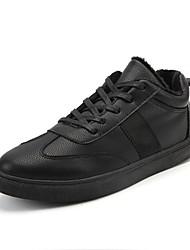 Homme Chaussures Gomme Automne Hiver Confort Basket Pour Noir