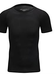 preiswerte -Unisex Laufshirt Kurzarm Schnelles Trocknung T-shirt Sweatshirt für Eng Schwarz Gelb Blau Grau S M L XL XXL