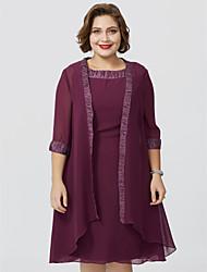 cheap -3/4 Length Sleeve Chiffon Wedding / Party / Evening Women's Wrap With Coats / Jackets