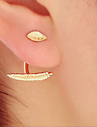 cheap -Women's Stud Earrings Hoop Earrings Simple Fashion Gold Plated Alloy Jewelry Casual Club