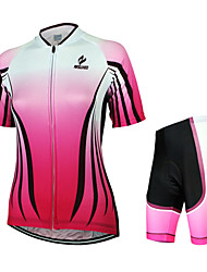 Arsuxeo Camisa com Shorts para Ciclismo Mulheres Manga Curta Moto Camisa/Roupas Para Esporte Shorts Conjuntos de Roupas Secagem Rápida