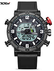 cheap -SINOBI Men's Sport Watch Japanese Calendar / date / day / Water Resistant / Water Proof / Shock Resistant Silica Gel Band Casual Black / Stopwatch / Noctilucent / Large Dial / Sony S626 / Two Years