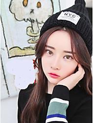 Для женщин Очаровательный На каждый день Широкополая шляпа,Зима Вязанная Однотонный Стильные