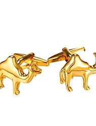baratos -Animal Prata Dourado Botões de Punho Latão Pedaço de Platina Chapeado Dourado Animais Festa Homens Jóias de fantasia