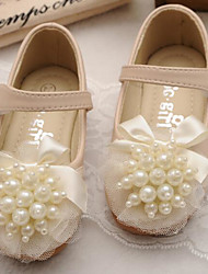 Girls' Shoes Synthetic Microfiber PU Spring Fall Comfort Flower Girl Shoes Flats for Casual Beige Pink