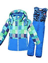 Phibee Crianças Calças & Jaquetas de Esqui Caminhada Quente Secagem Rápida A Prova de Vento Á Prova-de-Chuva Zíper á Prova-de-Água