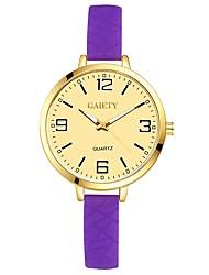 cheap -Women's Wrist watch Chinese Quartz Large Dial Silica Gel Band Casual Elegant Colorful Black White Blue Red Orange Brown Green Pink Purple