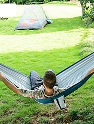 abordables -Hamac de Camping Extérieur Pliage, Pressant Matière pour Camping / Randonnée - 1 personne Orange / Bleu de minuit