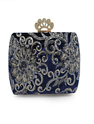 cheap -Women Bags PU Evening Bag Embroidery Pockets Sequins for Event/Party Outdoor All Seasons Black Dark Blue Wine