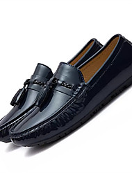 cheap -Men's Shoes Pigskin Winter Moccasin Loafers & Slip-Ons Bowknot For Casual White Black Red Blue