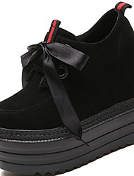 cheap -Women's Shoes Suede Winter Comfort Sneakers Round Toe For Casual Black