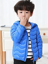 cheap -Boys' Solid Striped Down & Cotton Padded,Others Down Long Sleeves Vintage Cute Casual Light Blue