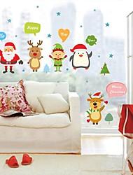Dyr Jul Vægklistermærker Fly vægklistermærker Dekorative Mur Klistermærker,Vinyl Hjem Dekoration Vægoverføringsbillede For Væg Vindue