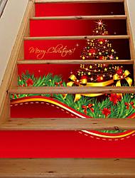 abordables -Botanique Noël Paysage Stickers muraux Autocollants muraux 3D Autocollants muraux décoratifs,Vinyle Décoration d'intérieur Calque Mural
