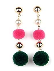cheap -Women's Drop Earrings Hoop Earrings Casual Bohemian Cartoon Lovely Fashion Copper Cotton Circle Jewelry For Going out Club