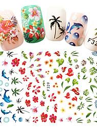 Недорогие -1 pcs Стикеры маникюр Маникюр педикюр Модный дизайн Цветы / Наклейки для ногтей Повседневные