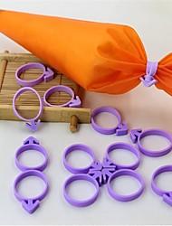12pcs Cream Icing Piping Bag Sealing Circle Tie Silicone Material Non Rubber Band