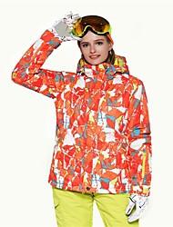 Недорогие -Жен. Лыжная куртка Теплый Вентиляция С защитой от ветра Пригодно для носки водостойкий Катание на лыжах Разные виды спорта Зимние виды